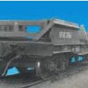 Вагон-платформа универсальная с несъемным оборудованием для крепления литых слябов модель 13-4012-10 фото