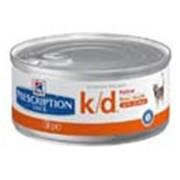 Корм для котов Hill's Prescription Diet k/d консервы для кошек с почечной недостаточностью с курицей 156 гр фото