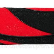 Кошелёк из кожи ската ST 52 DC Black/Fire Red фото