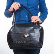 Женская сумка лак - кроко фото