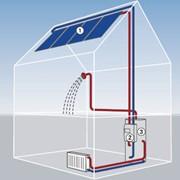 Монтаж систем солнечного нагрева воды (Гелиосистема) фото