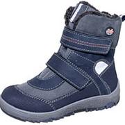 М 3-1110 Ботинки дошкольные нат.мех, т.синий Р-р 31 фото