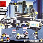 Конструктор Brick 128 Мобильный полицейский штаб фото