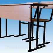 Парта школьная в комплекте с 2-мя стульями фото