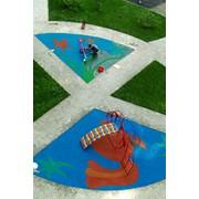 Покрытия бесшовные для детских площадок, Покрытия резиновые для детских площадок фото