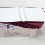 Обложка для твердого переплёта бесканальная с шириной корешка 25 мм, книжная, бордовый фото