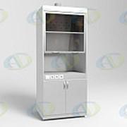 Шкаф вытяжной ШВ-01-МСК с тумбой без подвода воды, столешница нерж. сталь (эконом) фото