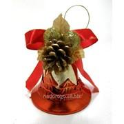 Колокольчик рождественский подвесной пластиковый TG14759 фото