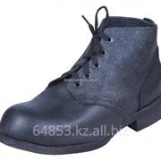 Ботинки юфть-кирза ГК стальной гвоздь с металлическим подноском БОТ640М фото