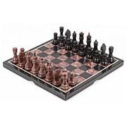 Шахматы из лемезита и змеевика 40х40 см фото