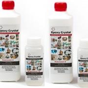 Прозрачная эпоксидная смола EpoxyCrystal 1250 г. Для бижутерии, ювелирных украшений и творчества. фото