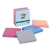 Post-it Super Sticky Набор клейких блокнотов 3М Post-it 654-5SSNRP Super Sticky ЭКО, 76х76мм, 5цветов по 90л., 450л фото
