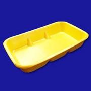 Пластиковые поддоны, лотки под запайку, Тара из полипропилена для пищевых продуктов, Поддон D-40 фото