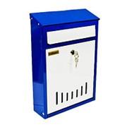 Почтовый ящик Элит ( Бело-синий) фото