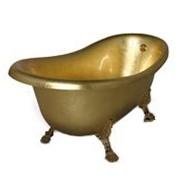 Восстановление эмали ванн методом золочения, серебрения, позолоченная ванна фото