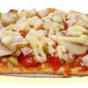 Пицца Багетная с ветчиной и грибами фото
