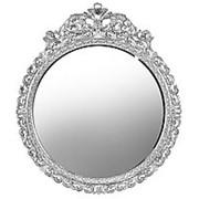 Зеркало настенное круглое 100х100х3,5см. серия Серебряный Век арт.МК 968207 фото
