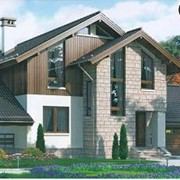 Проект комбинированного дома 54-99 фото