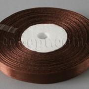 Лента атласная коричневая 0,9 см 36ярд 5407 фото