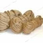 Трос Пенька д12мм (50м) крученое плетение конопляной нити №703145 фото
