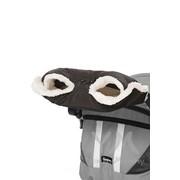 Муфта на коляску черная с мехом фото
