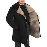 Полушубок овчинный, нагольный, черный: Размер: 46,170 фото
