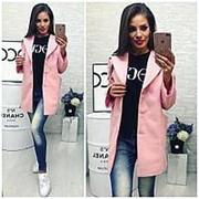 Пальто женское розовое (3 цвета) ВШ/-971 фото