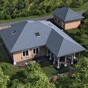 Особый дом, коттедж, вилла, усадьба, особняк, загородная недвижимость. фото