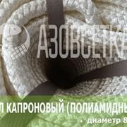 Фал капроновый (полиамидный) плетёный, диаметр 8 мм, бухта 100 м фото