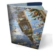 Обложка кожаная для паспорта Осенний Лондон фото