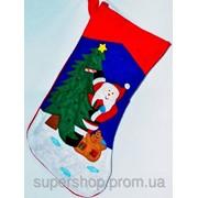 Новогодний носок Дед Мороз 218-215777 фото