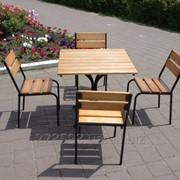 KIT-Classic-BL Комплект мебели Классический (черный металл, светлое дерево) фото