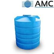 Бак пластиковый 10000 литров вертикальный цилиндрический с крышкой