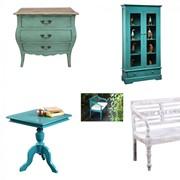 Мебель винтажная в ассортименте,античный зеленый,античный голубой фото