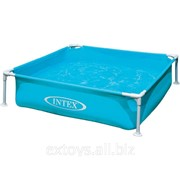 57172 Intex Каркасный детский бассейн, голубой 122х122х30 см фото