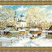 Набор для вышивания Деревенская зима фото
