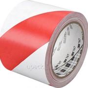 Лента сигнальная (красно-белая) 75 мм х 100 фото