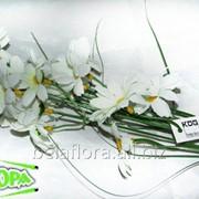"""Цветок искус. """"Ромашка ветка х4 белая"""" KDG0663 фото"""
