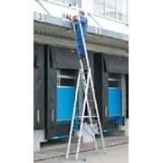 Лестница Krause 123350 алюминиевая трехсекционная универсальная, 3х12 ступеней, 3,55 м, 25,8 кг фото