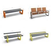 Лавки и скамейки металлические парковые, ассортимент от производителя фото