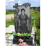Памятник гранит с ростовым портретом 120/60/0,08 фото