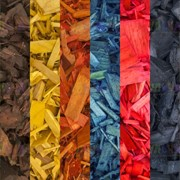 Древесная декоративная щепа цветная фото