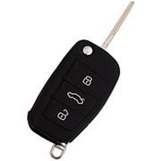 Чехол для выкидного ключа Audi, 3 кнопки (Чёрный) фото