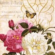 Салфетка для декупажа Белая и Розовая Розы фото
