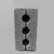 Блок пескобетонный 3-х щелевой 400x200x200 фото