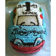 Торт машинка №0035 код товара: 6-0035 фото