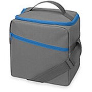 Изотермическая сумка-холодильник Classic c контрастной молнией, серый/голубой фото