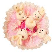 Букет из мягких игрушек Розовый Мусс 4012 фото