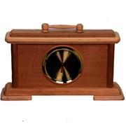 Деревянные настольные часы фото