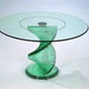 Изготовление элементов стеклянной мебели фото